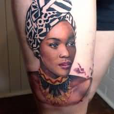 beautfiul-african-sculture-lady-tattoo