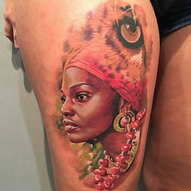 brilliant-african-lady-portrait-tattoo-idea