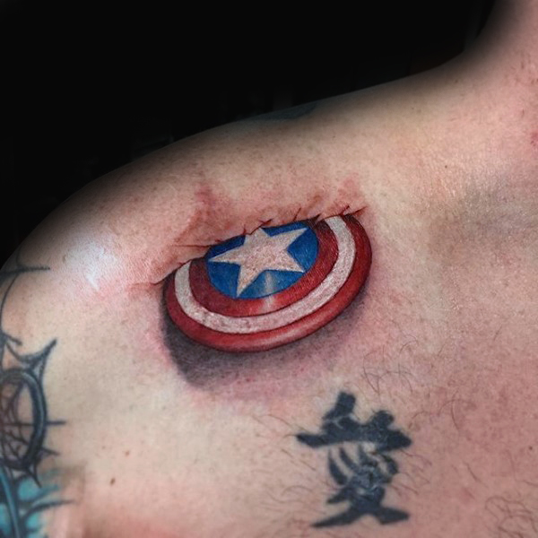 Catain american Tattoos