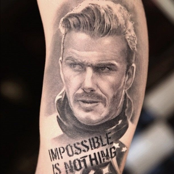 Famous Footballer David Beckham Tattoos