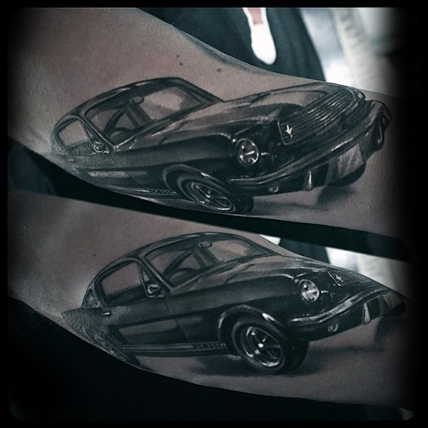 Famous Sports Car Tattoo Design Idea