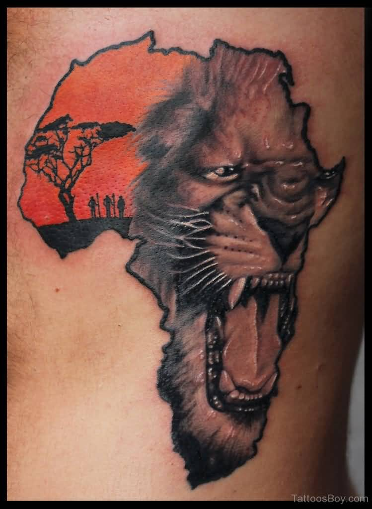 fine-finished-african-map-tattoo-of-lion-face