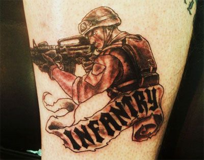 amazing army tattoo