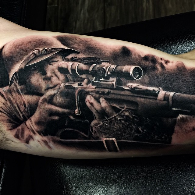 army sniper tattoo idea