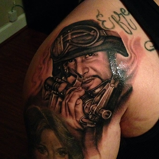 army sniper tattoo