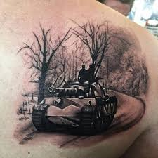 army tanker tattoo