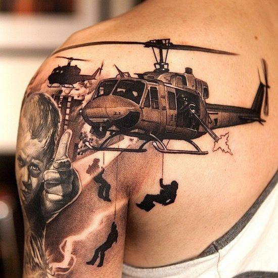 awesome army military tattoo art for soldiers