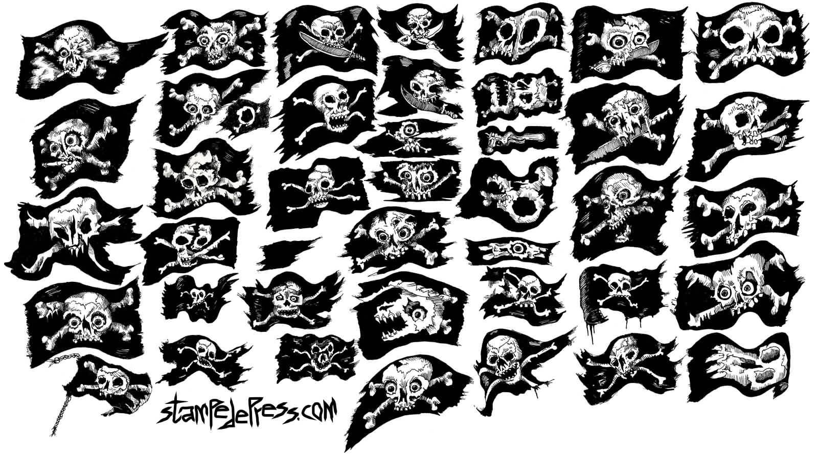 All Sample Jolly Roger Tattoo Designs