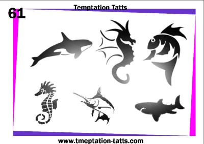 All Samples Of Sea Creature Tattoo