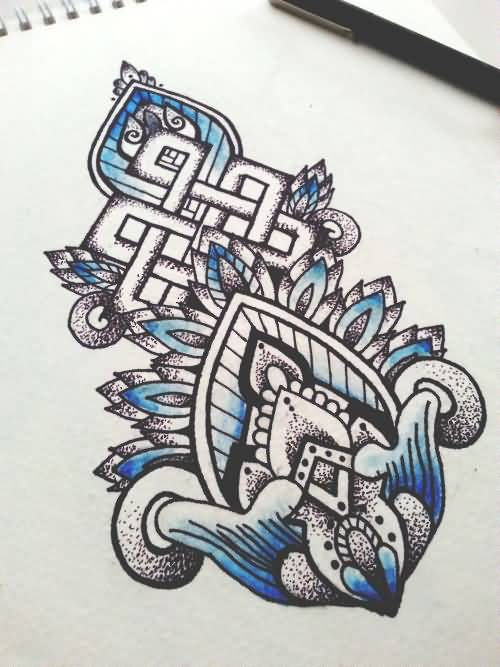 Amazing And Nice Endless Knot Tattoo Design Idea