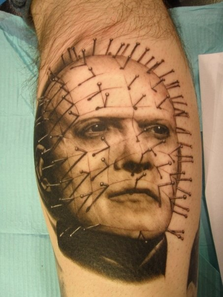 Amazing And Nice Pinhead Tattoo Design Idea