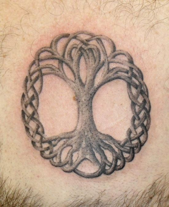 Amazing And Simple Pegan Tree Tattoo