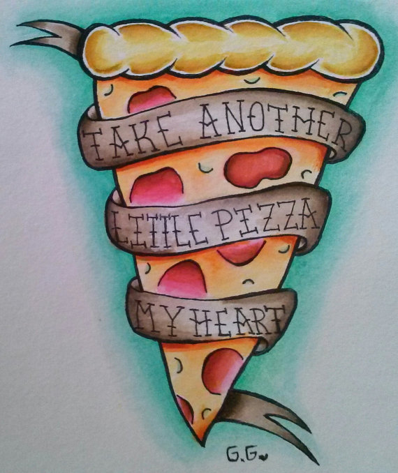 Amazing Banner Wonderful Pizza Tattoo