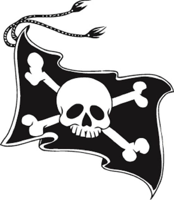 Amazing Jolly Roger Tattoo Of flag