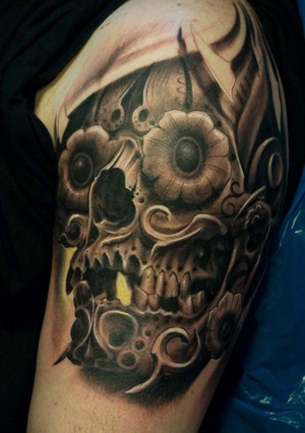 Amazing Punk Real Look Punk Tattoo Of Steampunk Skull