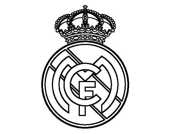 Amazing Simple And Nice Real Madriad Logo Stencil Tattoo