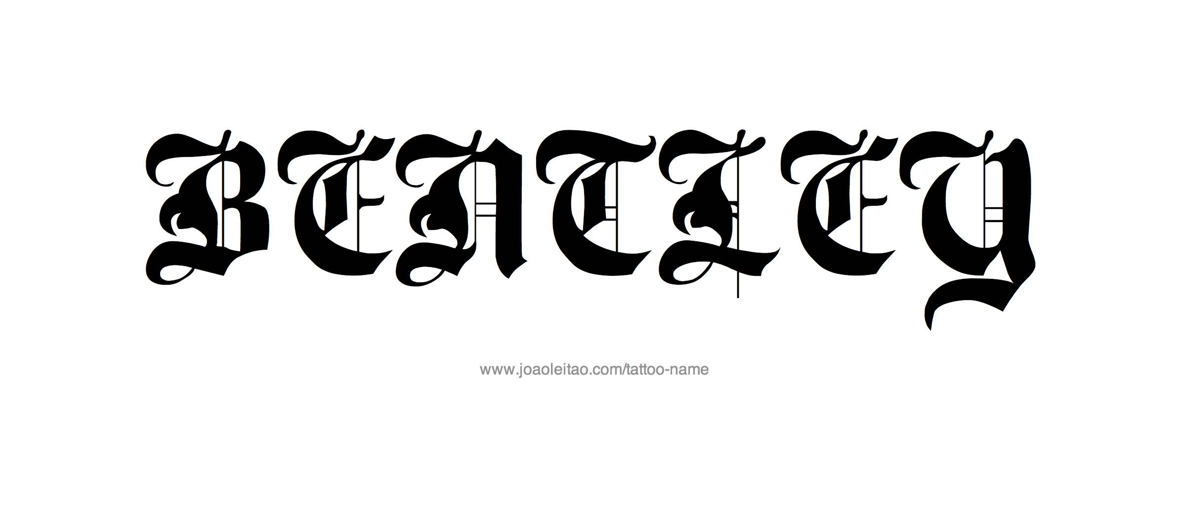 Ambigram Font Amazing Bentley Letter Tattoo By Black Ink