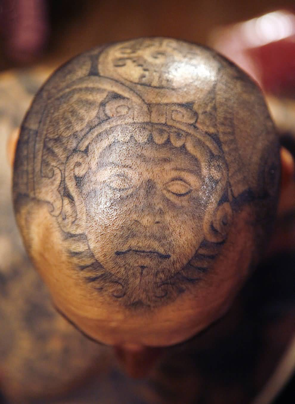 Ancient Egyptian Mummy Mask Upperhead Extreme Tattoo
