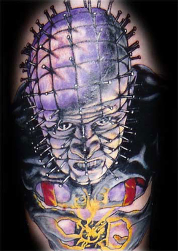 Angry Face Of Pinhead Tattoo Design Idea