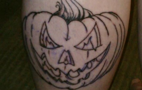 Angry Jack O Lantern Tattoo Design By Outline Ink