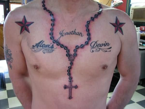 Army Star Amazing Necklace Chian Cross Tattoo