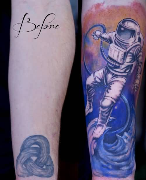 Astronomy Science Tattoo Design