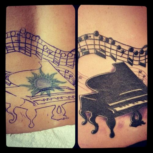 Before And After Nice Grand Piano Tattoo