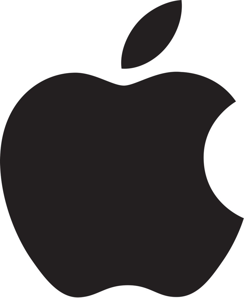 Big And Amazing Black Ink Nice Apple Logo Tattoo