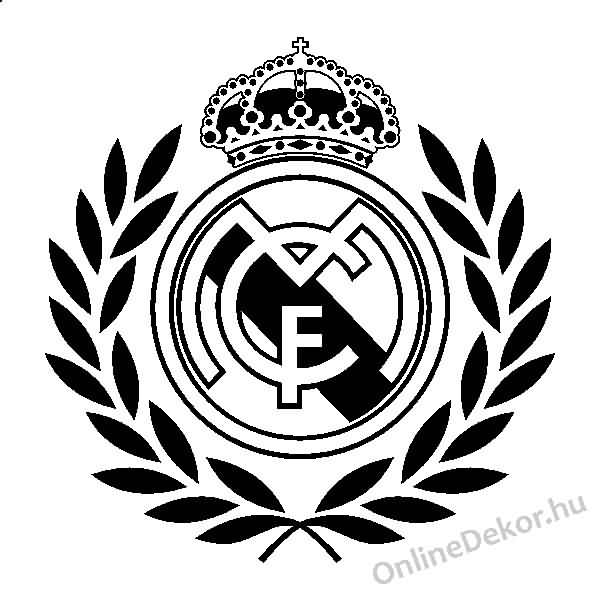 Black Amazing Stencil Tattoo Of Nice Real Madrid Logo