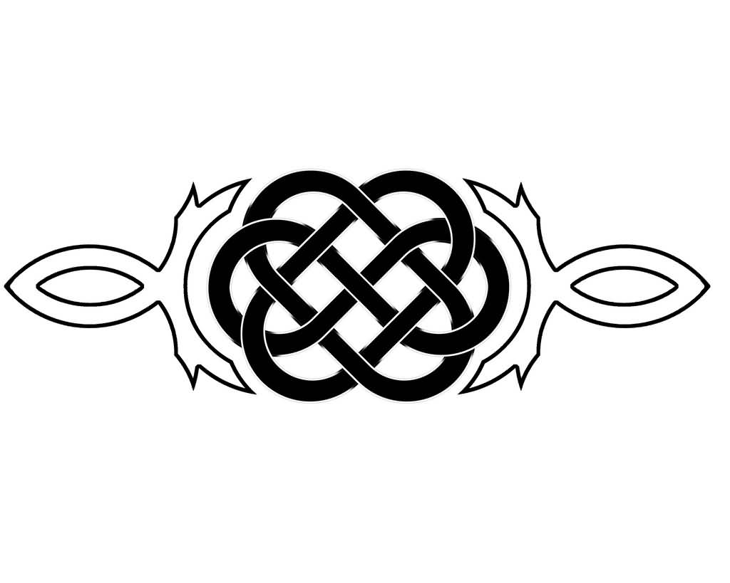 Black And White Ink Nice Celtic Knot Tattoo