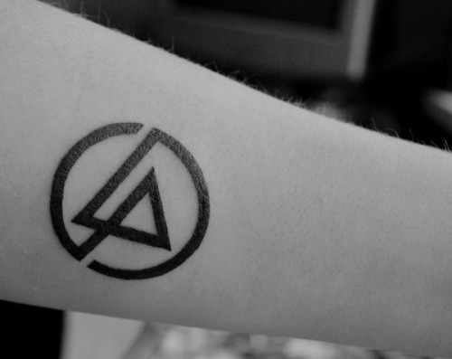 Black Ink Amazing Linkin Park Symbol Tattoo