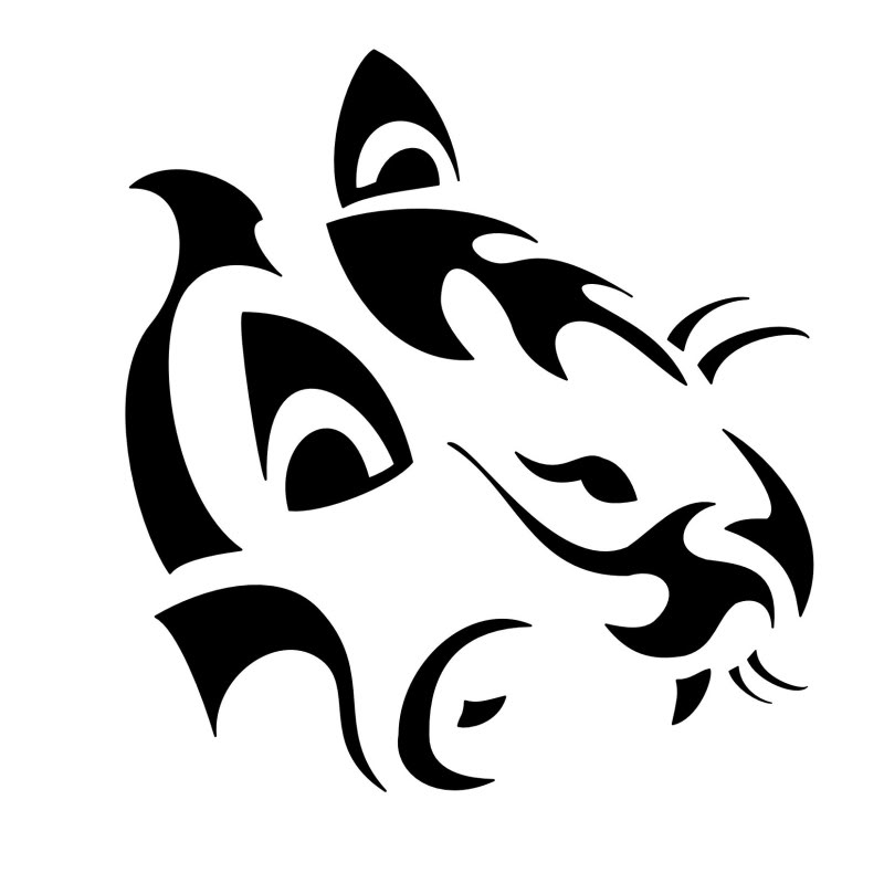 Black Ink Amazing Puma Tattoo Idea