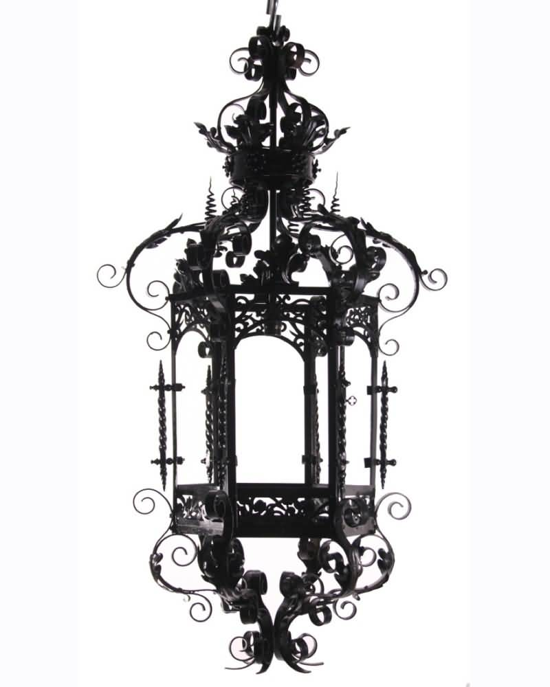 Black Ink Nice Antique Lantern Tattoo Design Idea
