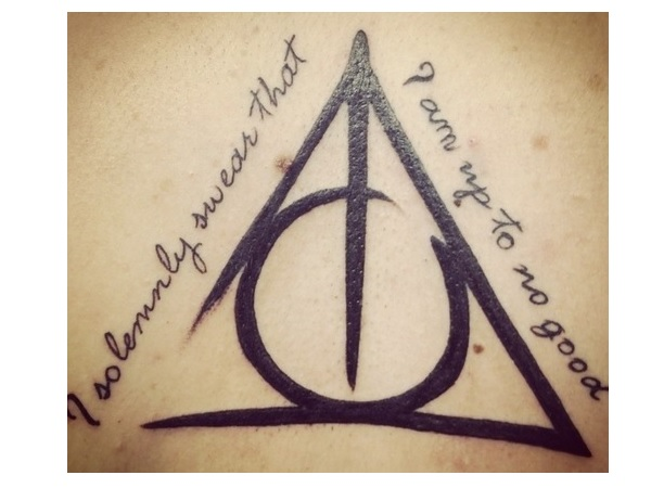 Black Ink Nice Hallows Tattoo