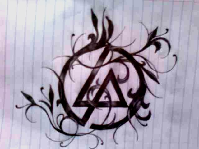 Black Nice And Amazing Linkin Park Symbol Tattoo