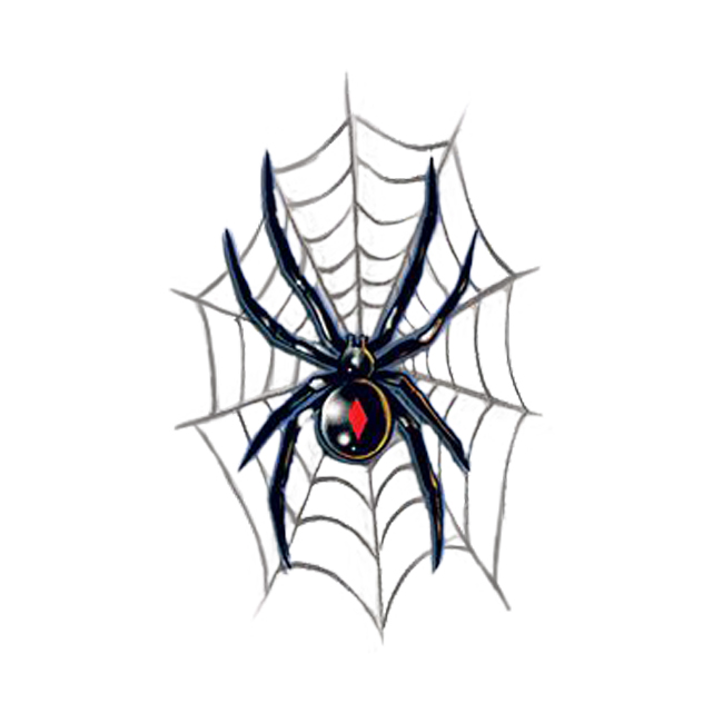 Black Widow On Spider Web Tattoo Design Idea On Paper
