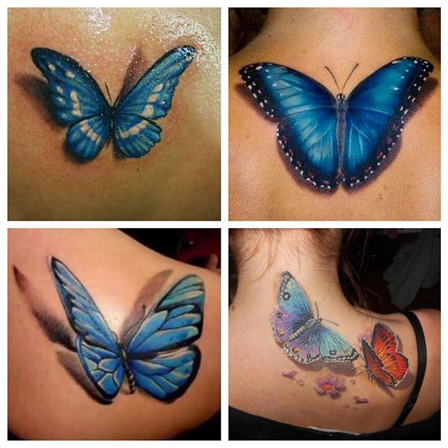 Blue Monarch Butterfly Tattoo Collaboration
