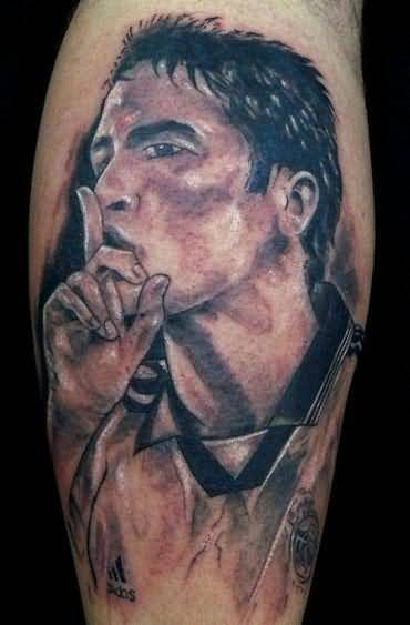Brilliant 3D Portrait Tattoo Of Real Madrid Player