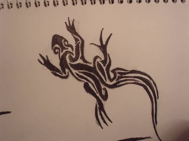 Bubblefox Design A Simple Tribal Salamander Tattoo