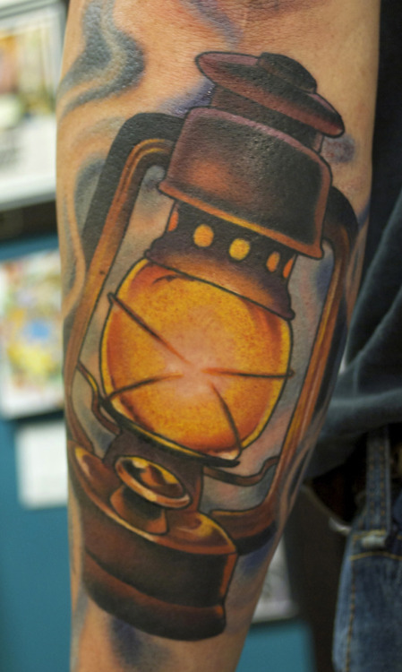 Burning Amazing Lantern Tattoo Design Idea