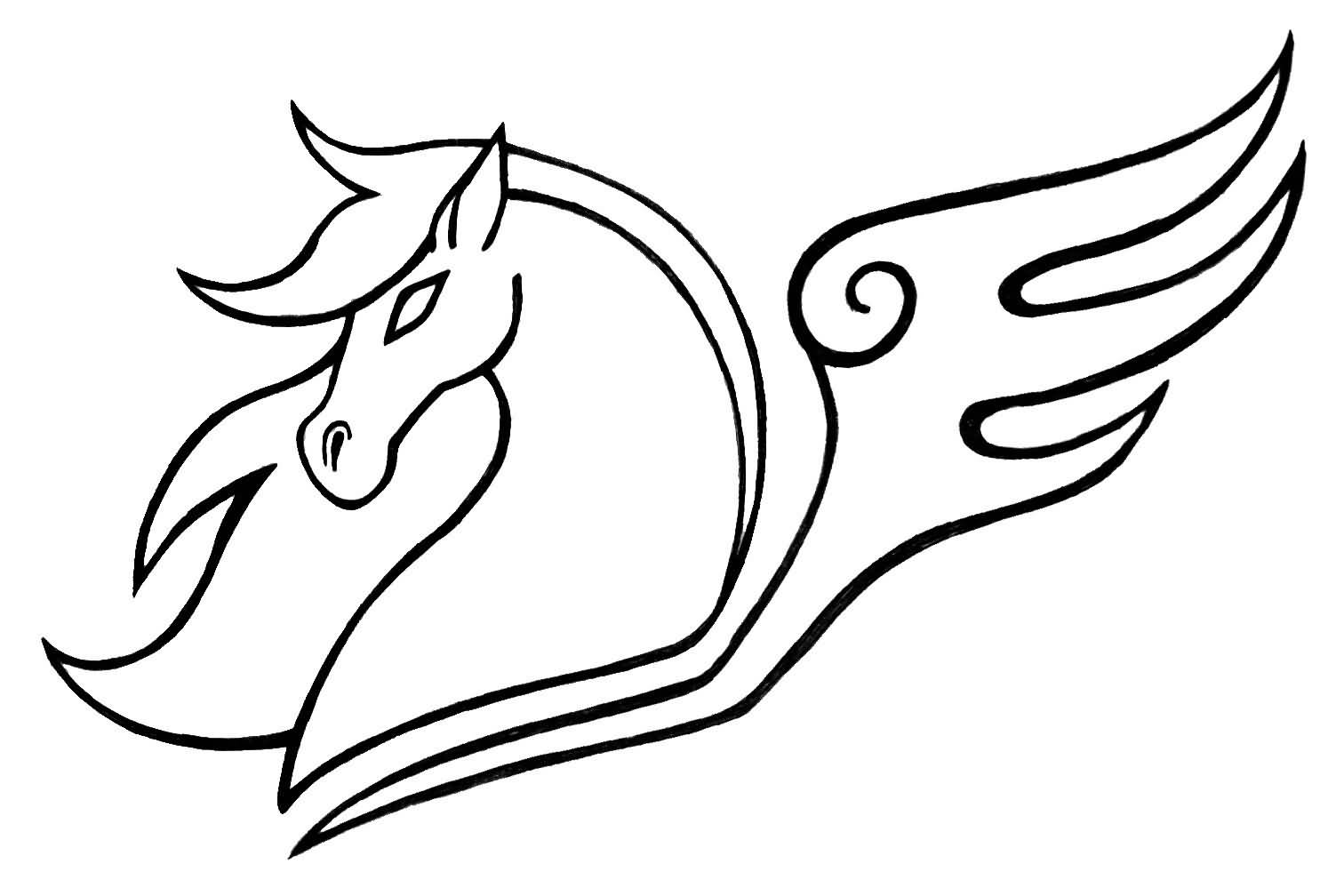 Canda Chan Design A Nice And Amazing Pegasus Face Tattoo