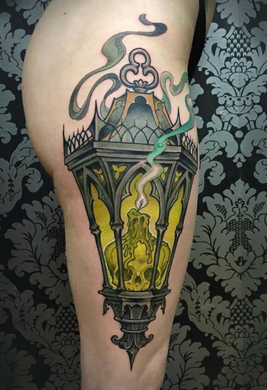 Candle Flame Amazing Lantern Tattoo
