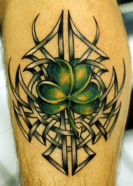Celtic Amazing Shamrock Green Ink Tattoo