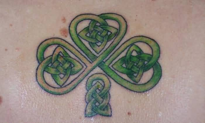 Celtic Cross Shamrock Tattoo Design