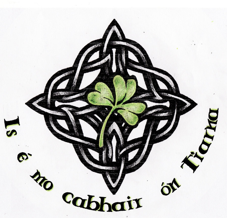 Celtic Knot Nice Shamrock Tattoo Design Idea