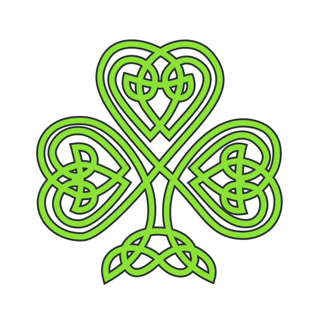 Celtic Knot Shamrock Tattoo Design Idea On Paper