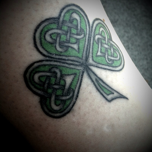 Celtic Knot With Nice Shamrock Tattoo Design Idea