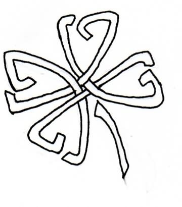 Celtic Nice Shamrock Black Ink Tattoo