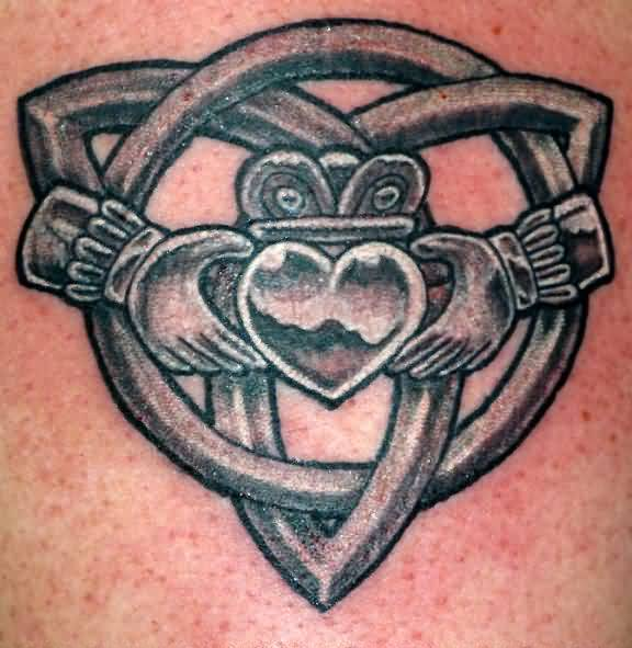 Claddagh Celtic Knot Tattoo Design