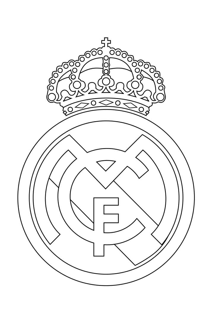 Classy Cool Real Madrid Stencil Tattoo